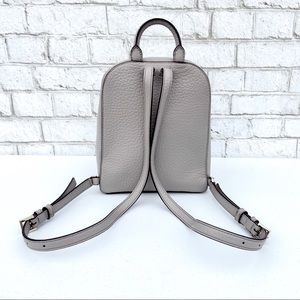 kate spade Bags - Kate Spade Small Grey Pebbled Leather Backpack